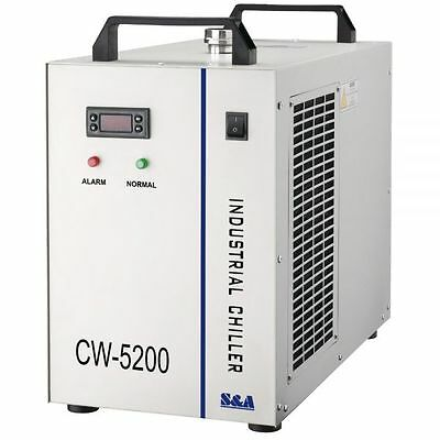 220V 50Hz S&A CW-5200AG Industrial Water Chiller for 150W CO2 Laser Tube