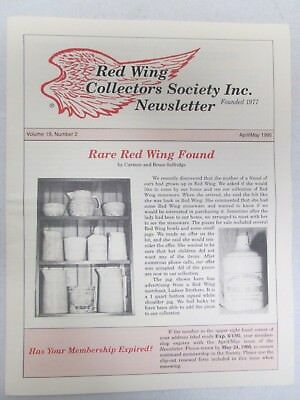 Red Wing Collectors Newsletter April May 1995 Rare Find Art Pottery USA
