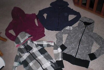 Lot of 4 Womans Bench Jackets with Hood sz M