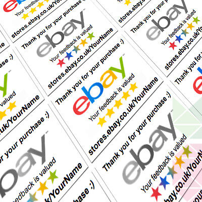 Ebay thank you labels personalised stickers for postage mail ebay