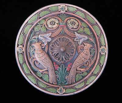 Birds Roundel  Garden Plaque   Arts & Crafts  Art Deco  Ellison Tile