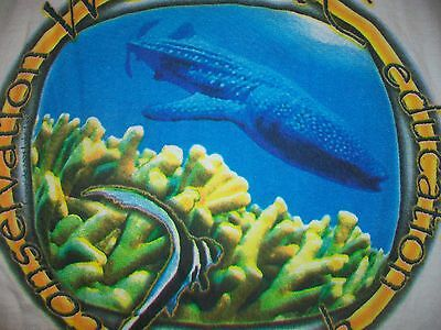 vintage WSORC RESEARCH OCEAN WHALE TANK TOP t shirt L dolphin earth animal