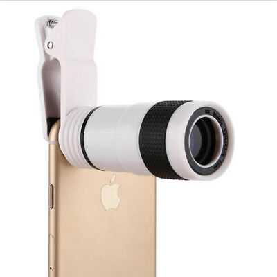 8x Zoom Optical Camera Telescope Lens &Universal Clip Kit For Mobile Cell Phone.