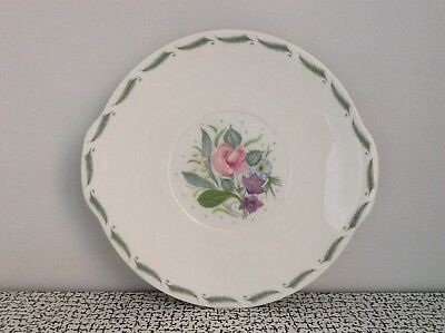 60s Vintage Susie Cooper Fragrance Floral Cake Bread Plate Bone China Wedding