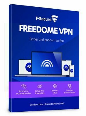 F-Secure Freedome VPN 2019 3 PC Geräte 1 JAHR WIN MAC Android