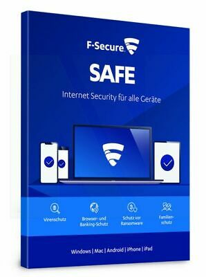 F-Secure SAFE Internet Security 2019 3 PC Geräte 2 JAHRE WIN MAC Android