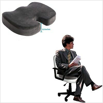 Coccyx Orthopedic Gel Memory Foam Seat Cushion Pain Relief Back Support Comfort,