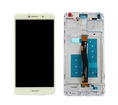 Huawei Honor 6X LCD Display Touchscreen Touch Screen Digitizer und Rahmen Weiß