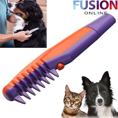 Electric Pet Cat Dog Grooming Flea Comb Knot Out Hair Fur Trimmer Tangles Tool