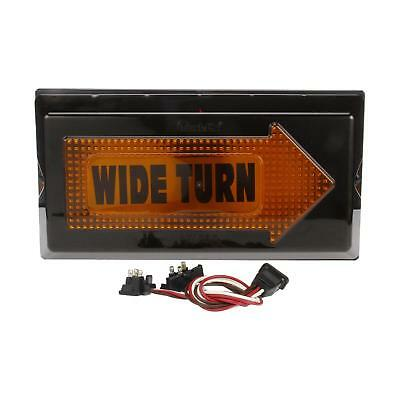 Truck-Lite 40 Series, Right, Yellow Rectangle Incan. Wide Turn Aux Turn Signal