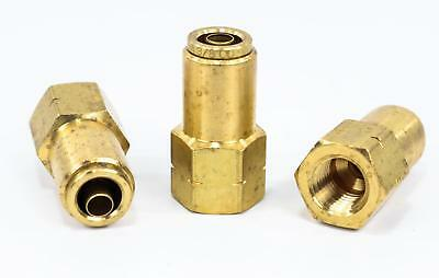 """(5) Brass Push-to-Connect Connector, Female - 3/8"""" x 1/4"""""""