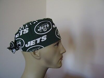 Surgical Scrub Hat/ Cap -NFL-NEW YORK JETS - One size- Handmade Men Women