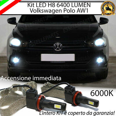 Kit Full Led Vw Polo Aw1 Lampade H8 Fendinebbia Canbus 6000K 6400 Lumen