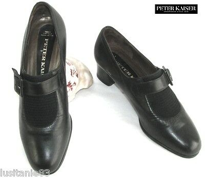 Peter Kaiser - Shoes Small Heels End round Black Leather 36.5 - Very Good