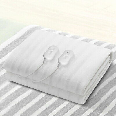 Queen Fully Fitted LCD Electric Blanket Heated Warm Fleece Underlay Winter Bed