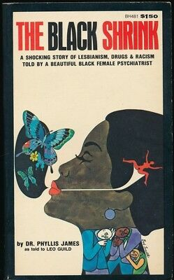 THE BLACK SHRINK 1975 Holloway House Sleaze PBO Novel LESBIANISM Drugs RACISM NM