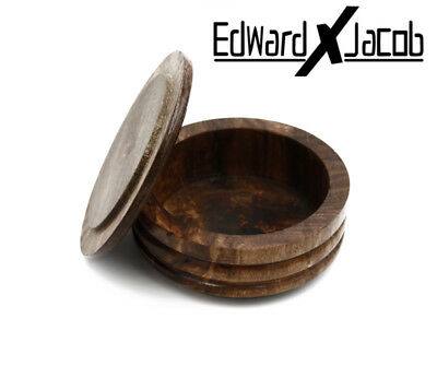 EXJ - She-sham Wood Bowl for Shaving, Shaving Brush, Shaving Bowl, Shaving Mug