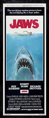 JAWS ✯ CineMasterpieces ORIGINAL MOVIE POSTER INSERT ROLLED NM-M 1975
