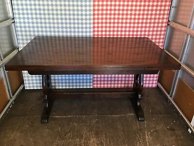 Solid Oak Jaycee Extending Draw Leaf Kitchen Dining Table - Old Charm Style