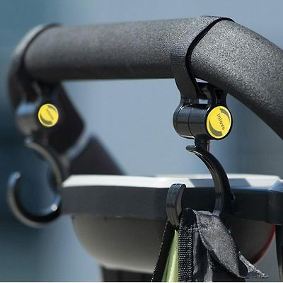 Adjustable Mummy Pram Hanger Baby Carriage Stroller Magic Paste Strap Clip Hook