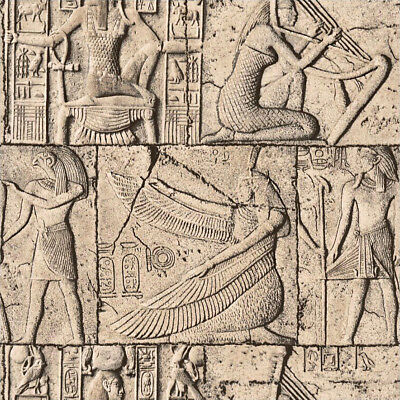 10M Vintage Egyptian Culture Stone Theme Hotel Mural Wallpaper Room Escape 3D