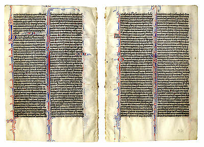 Beautiful Original Rare 13th Century Biblical Manuscript