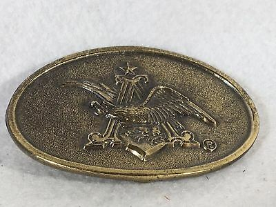 1980 Great American Buckle Company Brass Belt Buckle - Angry Bald Eagle