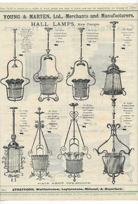 Vintage Architectural Advert ' Young and Marten Stratford 'Hall Lamps -Radiators