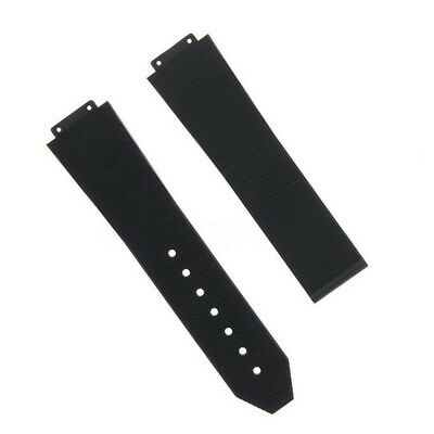 25MM Rubber Silicone Watch Strap Band For HUBLOT H BIG BANG Black