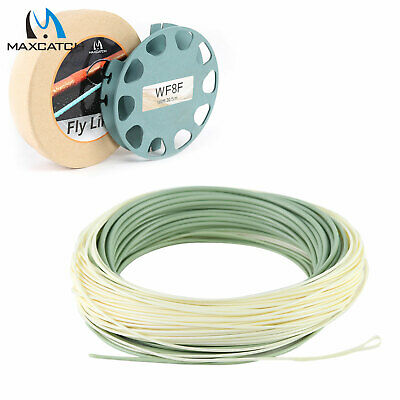 Tropical OutBound Short Saltwater Floating Fly Line WF6F 7F 8F 9F 10F Moss/Ivory