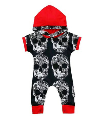 Baby Toddler Romper Jumpsuit Bogan Skulls outfit Boys  soft cotton baby clothing