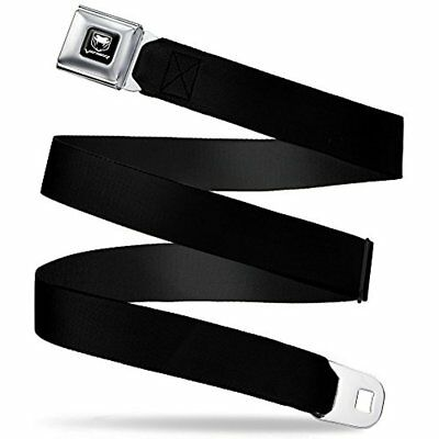 "Buckle-Down Seatbelt Shops Belt Black 1.5"" Wide 24-38 Inches In Length"