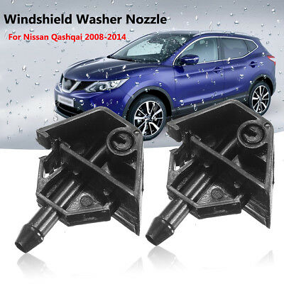 2X Car Windshield Front Windscreen Washer Jet nozzle For Nissan Qashqai 08- 2014
