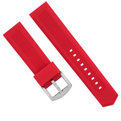 21Mm Rubber Band Strap For Tag Heuer Aquaracer Calibre 5 Waj2110 Automatic Red