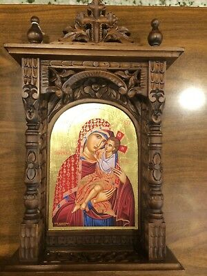 Theotokos The Healer Handmade Greek orthodox Russian byzantine icon