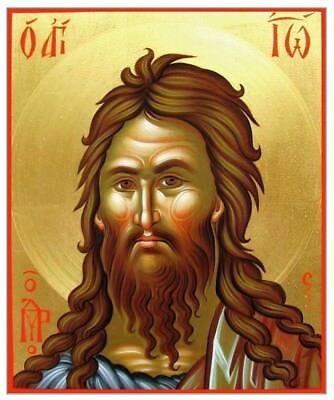 Saint John the Baptist MADE TO ORDER Eastern Byzantine Icon on Wood