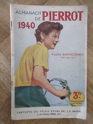 Almanach De Pierrot 1940 Editions Du Petit Echo De La Mode Be