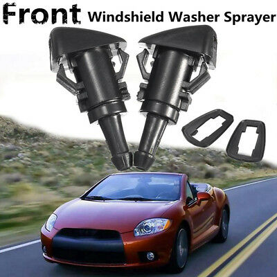 pair Windshield Wiper Water Spray Washer Jet Nozzle For Mitsubishi Eclipse 06-12