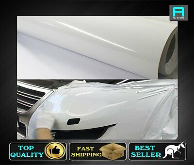 1510mm x 220mm Air Bubble Free Gloss Glossy White Vinyl Wrap Film Sheet Decals