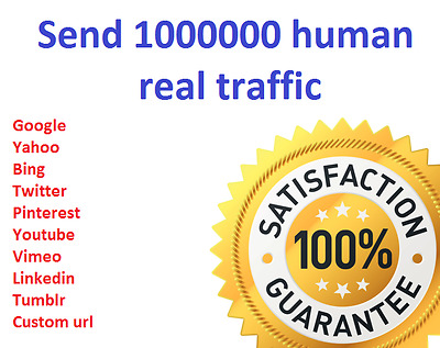 1,000,000+ Keyword Targeted GOOGLE traffic Real humans From around the world