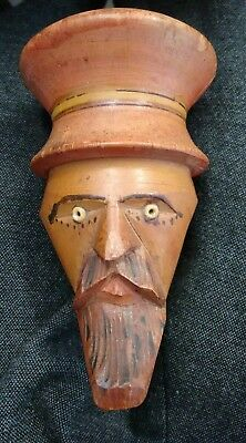 vintage German pipe head wooden carved Black Forest?