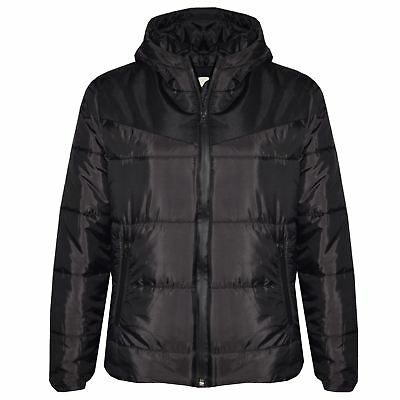 Kids Jacket Girls Boys Padded Puffer Bubble Hooded Zipped Warm Thick Coats 3-13Y