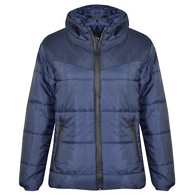 Kids Jacket Girls Boys Padded Puffer Bubble Zipped Hooded Warm Thick Coats 3-13Y