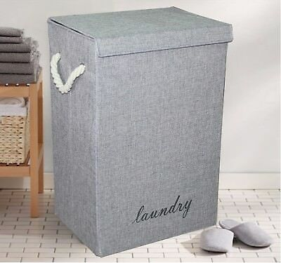 Laundry Hamper Basket Wicker Clothes Storage Bag Sorter Bin Organizer Lid