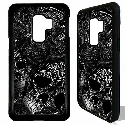 Sugar skull black rose flower graphic case cover for Samsung Galaxy S9 / S9 plus