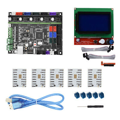 Motherboard Control Board+LCD12864+ 5xTMC2100V1.3 Driver Kit for 3D Printer