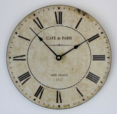30 Cm Cafe De Paris French Style Antique Effect Wall Clock
