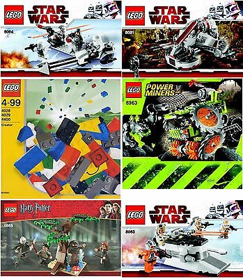 Various Individual Lego Instruction Booklets Manuals Star Wars Harry