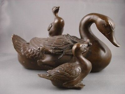 Chinese Bronze Duck and Ducklings Feng Shui Cure ?