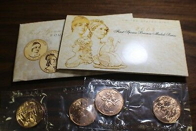 2008 U.S. Mint First Spouse Bronze Medal Series 4-Medal Set